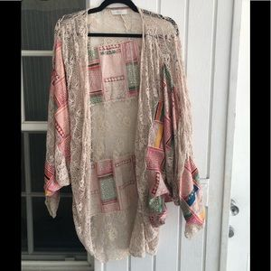 EIS for free people patchwork/lace kimono